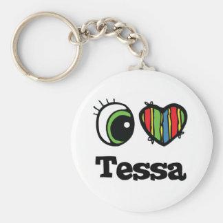 I Heart (Love) Tessa Basic Round Button Key Ring