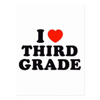 I Heart / Love Third Grade Postcard