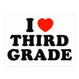 I Heart / Love Third Grade Postcards