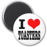I HEART (LOVE) TOASTERS FRIDGE MAGNETS