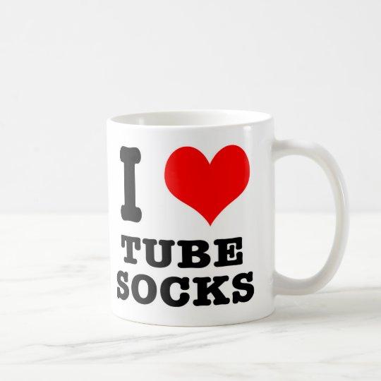 I HEART (LOVE) tube socks Coffee Mug