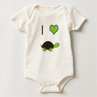I heart (love) Turtles Baby Bodysuit