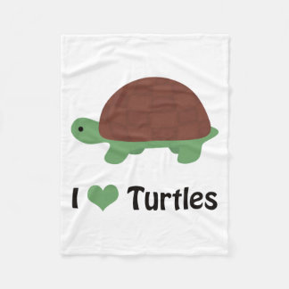 I heart (love) turtles fleece blanket