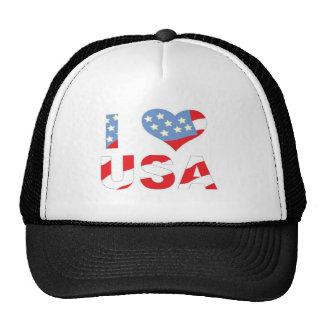I (heart) love USA Cap