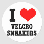 I HEART (LOVE) velcro sneakers Round Sticker