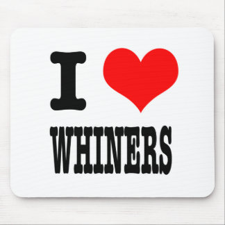 I HEART LOVE WHINERS MOUSE MAT