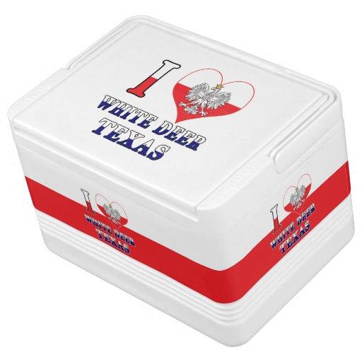 I Heart Love White Deer Texas Igloo Cool Box
