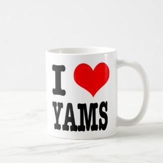 I HEART (LOVE) YAMS COFFEE MUG