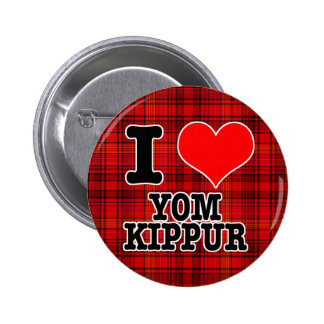 I HEART (LOVE) YOM KIPPUR 6 CM ROUND BADGE
