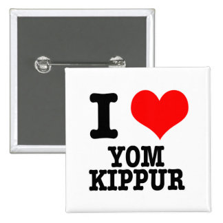 I HEART (LOVE) YOM KIPPUR 15 CM SQUARE BADGE