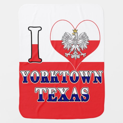 I Heart Love Yorktown Texas Baby Blanket