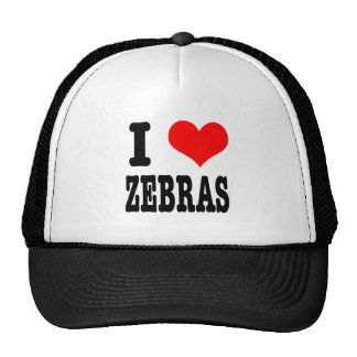 I HEART (LOVE) zebras Cap