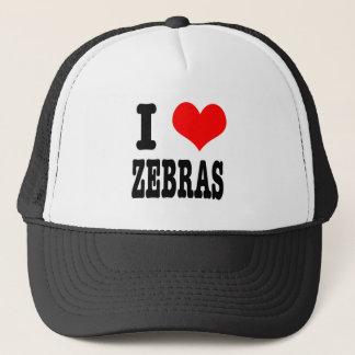 I HEART (LOVE) zebras Trucker Hat