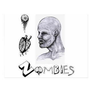 I Heart Love Zombies Postcards