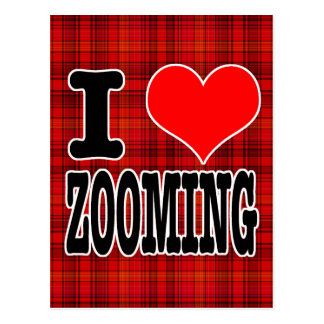 I HEART (LOVE) ZOOMING POSTCARD