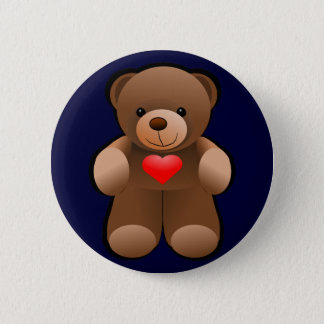 I Heart Loving Teddy 6 Cm Round Badge