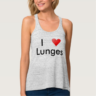 I Heart Lunges Workout Tee/Tanktop Tank Top