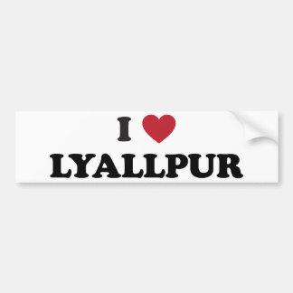 I Heart Lyallpur Pakistan Bumper Sticker