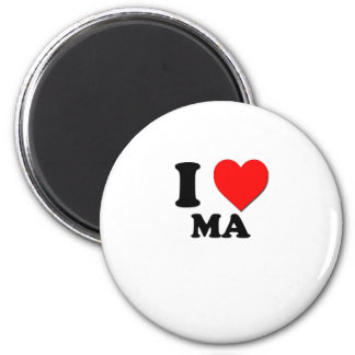 I Heart Ma 6 Cm Round Magnet