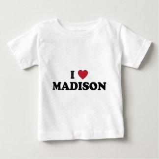 I Heart Madison Wisconsin Baby T-Shirt
