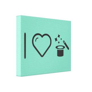 I Heart Magic Tricks Canvas Prints