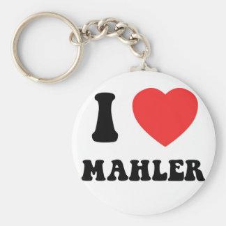 I Heart Mahler Basic Round Button Key Ring