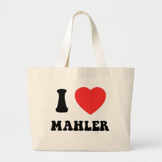 I Heart Mahler Large Tote Bag