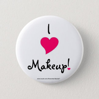 I heart makeup! 6 cm round badge
