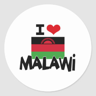 I HEART MALAWI CLASSIC ROUND STICKER