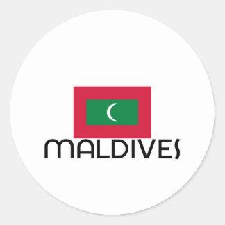 I HEART MALDIVES CLASSIC ROUND STICKER