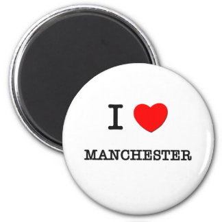 I Heart MANCHESTER 6 Cm Round Magnet