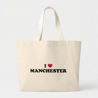 I Heart Manchester England Canvas Bags
