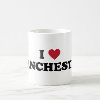 I Heart Manchester England Basic White Mug