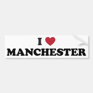 I Heart Manchester England Bumper Sticker