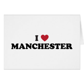 I Heart Manchester England Greeting Card