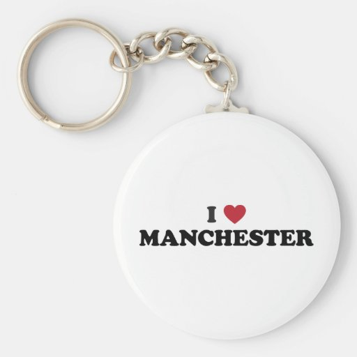 I Heart Manchester England Keychains
