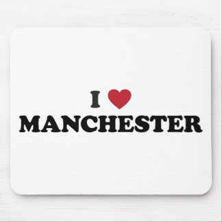 I Heart Manchester England Mouse Pad