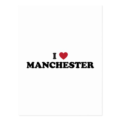 I Heart Manchester England Post Cards
