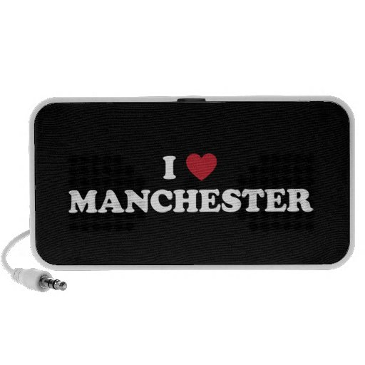 I Heart Manchester England Portable Speakers
