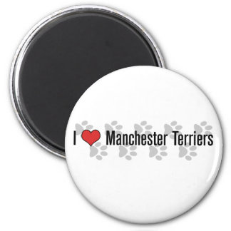 I (heart) Manchester Terriers 6 Cm Round Magnet