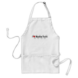 I (heart) Manchester Terriers Aprons