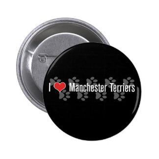 I (heart) Manchester Terriers Pinback Button