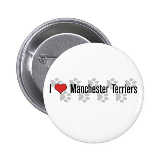 I heart Manchester Terriers Button