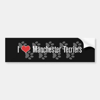 I (heart) Manchester Terriers Car Bumper Sticker