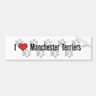 I heart Manchester Terriers Bumper Stickers