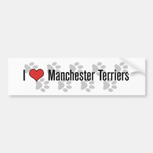 I (heart) Manchester Terriers Bumper Stickers