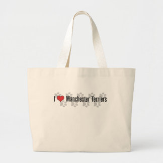 I (heart) Manchester Terriers Jumbo Tote Bag