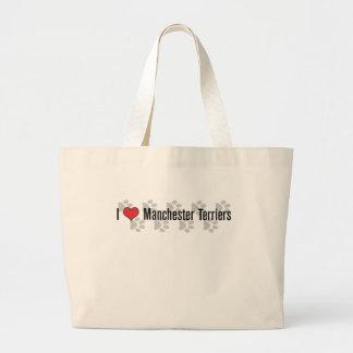 I (heart) Manchester Terriers Jumbo Tote Bag