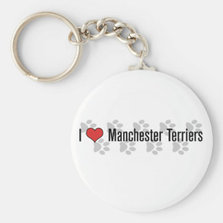 I heart Manchester Terriers Key Chain