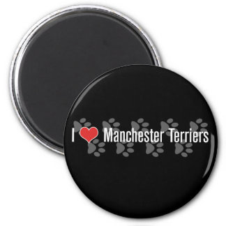 I heart Manchester Terriers Magnets